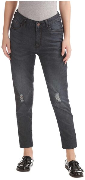 Flying Machine Blue Cotton Skinny Fit High Rise Jeans