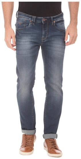 Flying Machine Blue Cotton Low Rise Skinny Fit Jeans