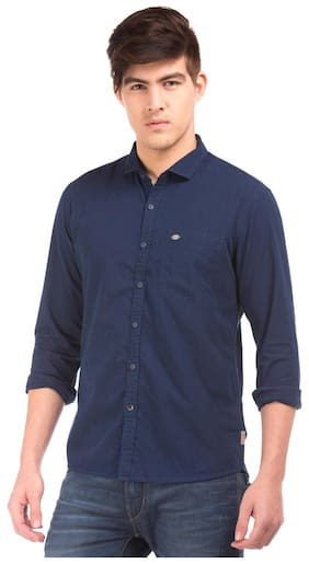 Flying Machine Men Slim Fit Casual shirt - Blue
