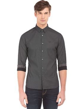 Flying Machine Men Slim Fit Casual shirt - Grey