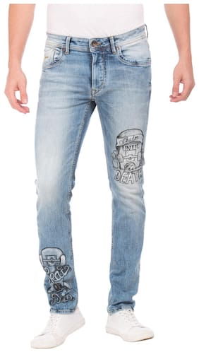 Flying Machine Men Mid Rise Skinny Fit ( Skinny Fit ) Jeans - Blue