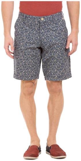 Flying Machine Men Cotton Shorts - Grey