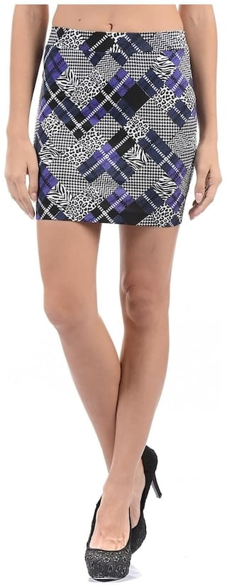 Flying Machine Printed A-line skirt Mini Skirt - Multi