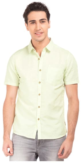 Flying Machine Men Regular Fit Casual shirt - Green