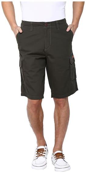 Flying Machine Men Cotton Shorts - Brown