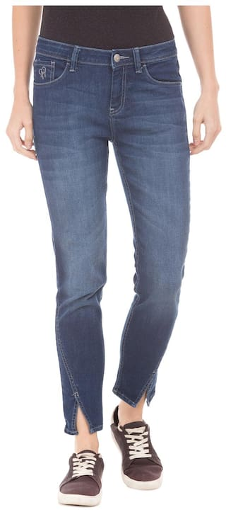 Flying Machine Skinny Fit Cropped Jeans