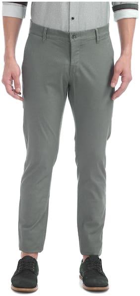 Flying Machine Super Slim Fit Printed Trousers