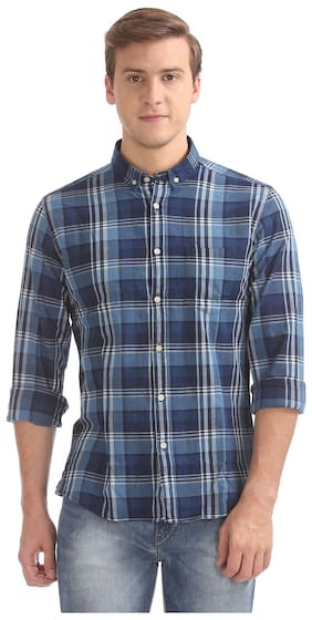 90ddc5164349 Flying Machine Men Slim Fit Casual shirt - Blue