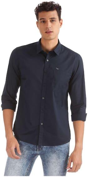 Flying Machine Men Slim Fit Casual shirt - Blue