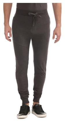 Flying Machine Brown Cotton Slim Fit Panelled Joggers