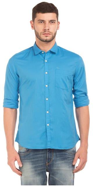Flying Machine Men Regular Fit Casual shirt - Turquoise