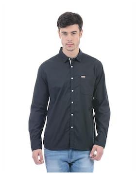 Flying Machine Men Regular Fit Casual shirt - Black
