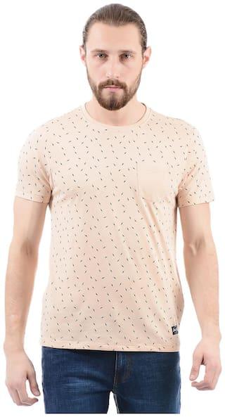 Flying Machine Men Regular fit Round neck Printed T-Shirt - Beige