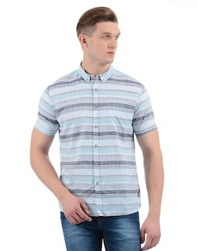 Flying Machine Men Striped Multi Shirt
