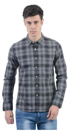 Flying Machine Men Solid Full Sleeve Shirt