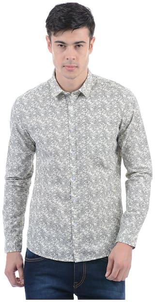 Flying Machine Men Slim Fit Casual shirt - Grey