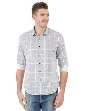 Flying Machine Men Regular Fit Casual shirt - Grey