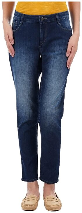Flying Machine Women Skinny Fit Low Rise Solid Jeans - Blue