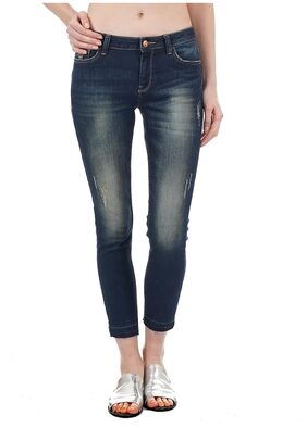 Flying Machine Women Skinny Fit Mid Rise Solid Jeans - Blue