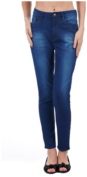 Flying Machine Women Skinny Fit High Rise Solid Jeans - Blue