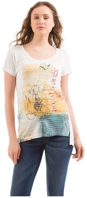 Flying Machine Women Graphic Print T-Shirt