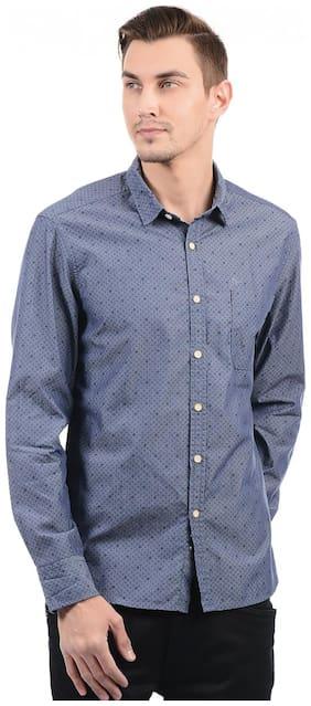 Men Slim Fit Polka Dots Casual Shirt