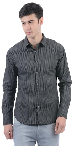Flying Machine Men Striped Full Sleeve Shirt
