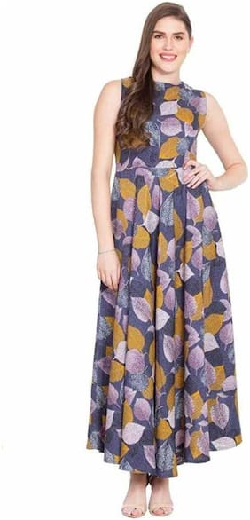 Women Printed Fit and Flare Fusion Dresses