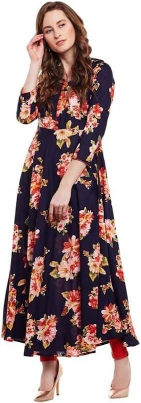 Women Floral Anarkali Fusion Dresses ,Pack Of 1