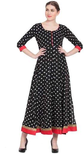 Women Polka Dots Anarkali Kurti Dress