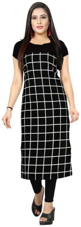 Women Checkered A Line Kurti