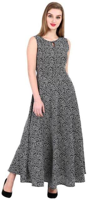 Women Printed Anarkali Fusion Dresses ,Pack Of 1