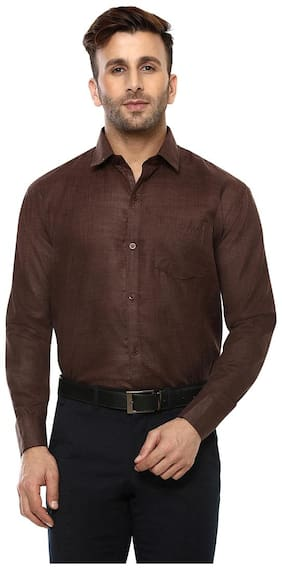Hangup Men Slim Fit Casual shirt - Brown