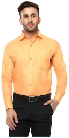 Hangup Men Regular Fit Casual shirt - Yellow