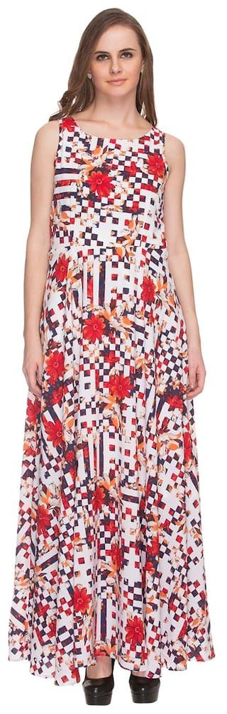 6c479b678113 Buy Fratini Woman By Shoppers Stop Women s Multi Color Maxi Dress ...