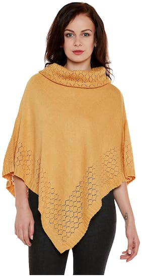 Cayman Blended Poncho - Yellow