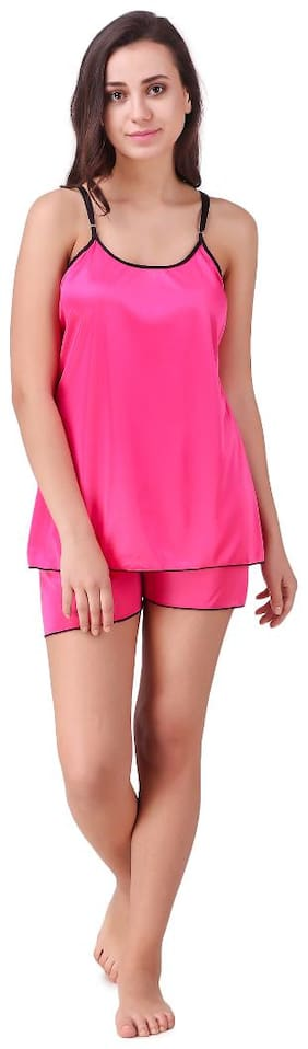 Solid Top and Shorts Set ,Pack Of 1