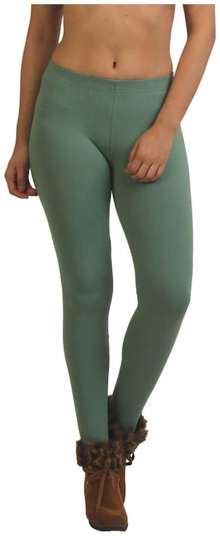 French Trendz Cotton Leggings - Green
