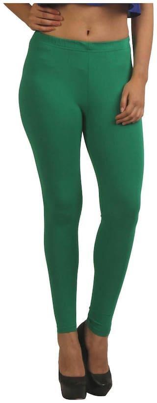 French Trendz Cotton Leggings - Green