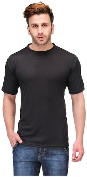 Friskers Men's Loose Fit Round Neck T-Shirt - Black