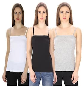 Friskers Multi Color Camisole slip Pack of 3