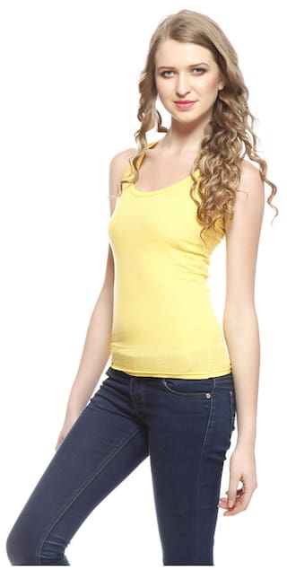 Camisole Friskers Tops amp Tank Cotton Yellow XkaLcK