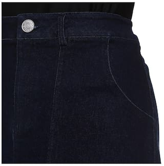 Skirt Pockets With Denim Slit Front OwqYxS7n
