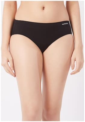 Fruit Of The Loom Pack Of 1 Solid Mid Waist Hipster Panty - Black