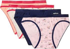 Fruit Of The Loom Pack Of 4 Printed Mid Waist Bikini - Multi