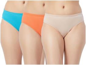 Fruit Of The Loom Pack Of 3 Solid Mid Waist Bikini - Multi