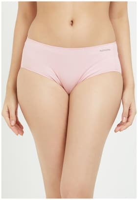 Fruit Of The Loom Pack Of 1 Solid Mid Waist Hipster Panty - Pink