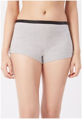 Fruit Of The Loom Pack Of 1 Solid Mid Waist Hipster Panty - Grey