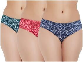 Fruit Of The Loom Pack Of 3 Printed Mid Waist Bikini - Multi