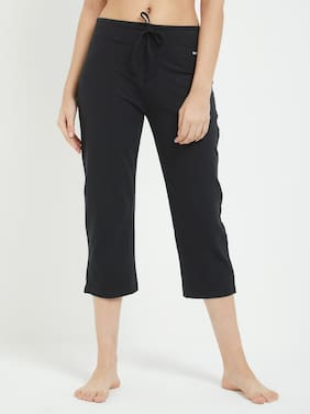 Fruit Of The Loom Women Solid Shorts - Black